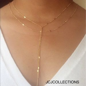✨✨Gold Filled Double Strand Y Necklace✨